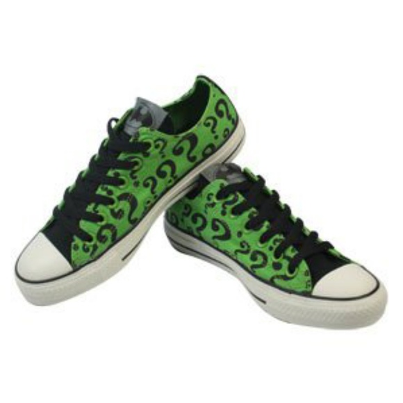 1382f4637234 Converse Shoes - Batman The Riddler Question Mark Converse